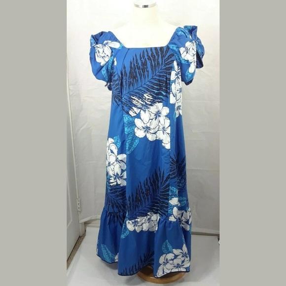 Hoku Dresses | Hawaii Plus Size Luau Mumu Maxi Floral Dress ...